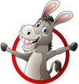 cartoon funny donkey vector image