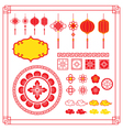 Chinese Design Elements Ornaments Decoration vector image vector image