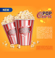 classic popcorn movie theater snacks vector image vector image