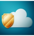 Cloud computing security vector image vector image