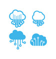 cloud icon design template isolated vector image vector image
