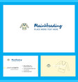 coat logo design with tagline front and back vector image vector image