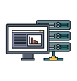 computer desktop display isolated icon vector image vector image