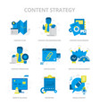 content strategy flat icons vector image