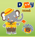 day scout with cute elephant cartoon cartoon vector image vector image