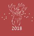deer outline handrawn vector image vector image