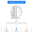 design human ruler size thinking business flow vector image