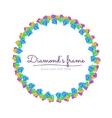 Diamond Frame vector image