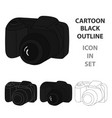 digital camera icon in cartoon style isolated on vector image vector image
