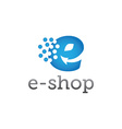 e shop design template vector image vector image