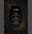 elegant menu design vector image vector image