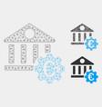 euro bank building options mesh 2d model vector image vector image