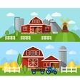 Farm Flat Banner vector image