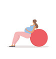 fitness for pregnant woman vector image vector image