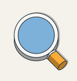 flat magnifying glass icon modern design vector image vector image