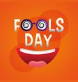 fools day card funny celebration humor vector image vector image