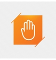 Hand sign icon No Entry or stop symbol vector image vector image