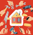 hand tool house construction handtools vector image
