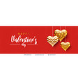happy valentines day text and hearts on red vector image vector image