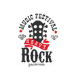 heavy rock music festival est 1979 logo design vector image vector image