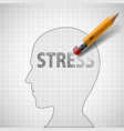human head with word stress vector image