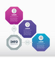 infographic technological or education process vector image vector image