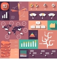 infographics flat design with long shadows vector image vector image