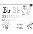 learn to write letter b workbook for children vector image vector image