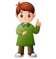 little boy pointing up his finger vector image