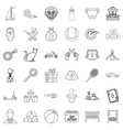 little child icons set outline style vector image vector image