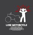 Lose Motorcycle Concept Graphic Symbol vector image vector image