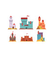 medieval fairytale castles collection ancient vector image vector image