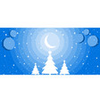 merry christmas night winter landscape vector image vector image