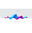 multicolored abstract fluid sound wave vector image vector image
