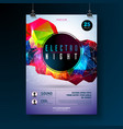 night dance party poster design with abstract vector image