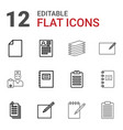 notepad icons vector image vector image
