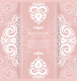 Pink and white vintage greeting card
