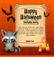 poster on theme of the halloween holiday sketch vector image vector image