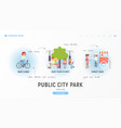 public city park vector image