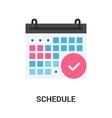 Schedule icon concept