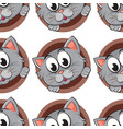 seamless pattern tile cartoon with cat vector image vector image