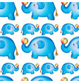 seamless pattern tile cartoon with toy elephant vector image vector image