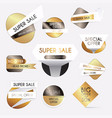 set gold sale banners design discounts and vector image vector image