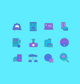 set simple line icons carsharing vector image vector image