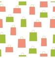 Shopping Bag Design Seamless Pattern Background vector image vector image