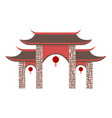 simple chinese pavilion gate vector image vector image