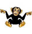 smiling cartoon chimpanzee vector image vector image