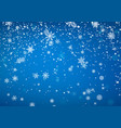 snowfall christmas background flying snow flakes vector image vector image