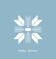 snowflake icon flat design snowflake hello winter vector image vector image