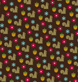 squirrels and acorns pattern vector image